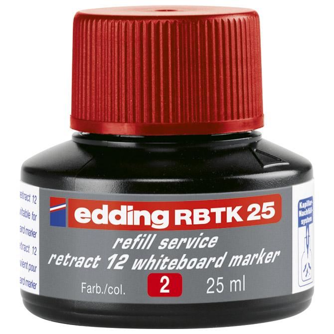 Tinta za marker (za bijelu ploču) 25ml Edding BTK25 crvena