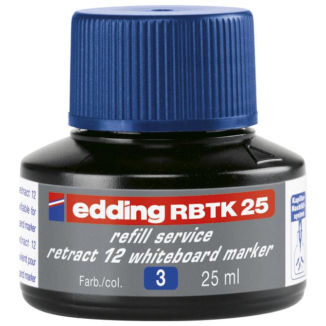 Tinta za marker (za bijelu ploču) 25ml Edding BTK25 plava