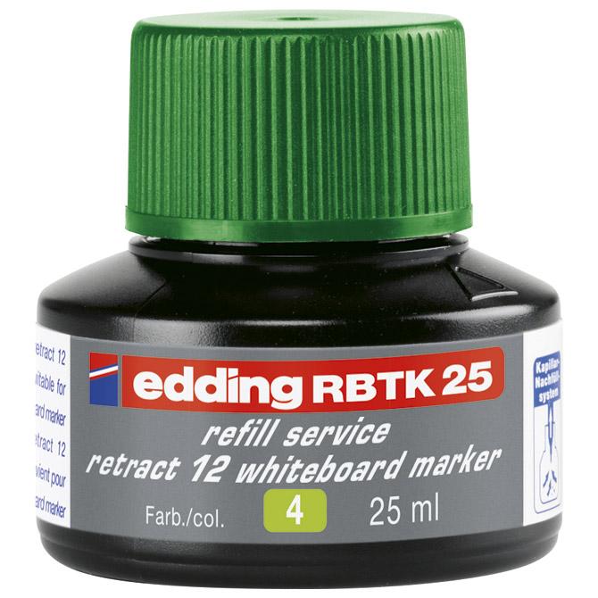 Tinta za marker (za bijelu ploču) 25ml Edding BTK25 zelena