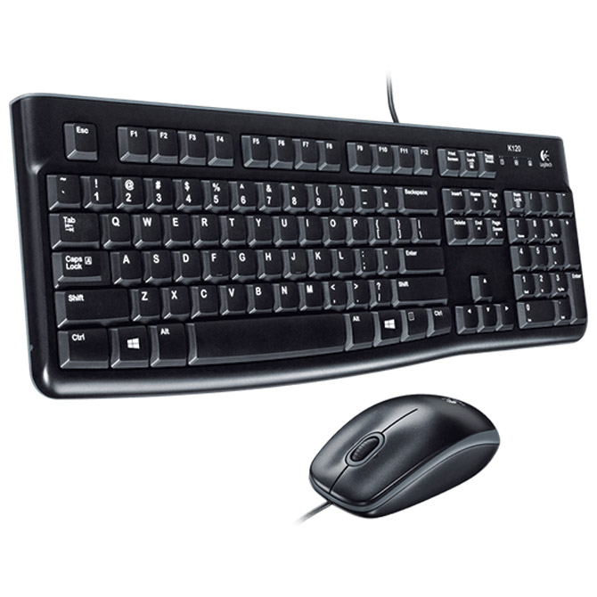 Tipkovnica + Miš MK120 Desktop Logitech crna