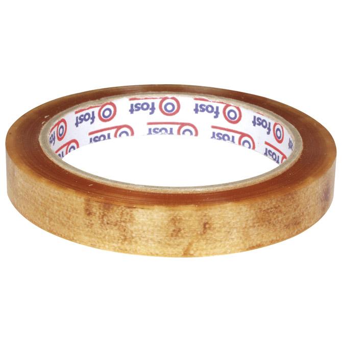 Traka ljepljiva 15mm/66m solvent Fost 33010013 prozirna