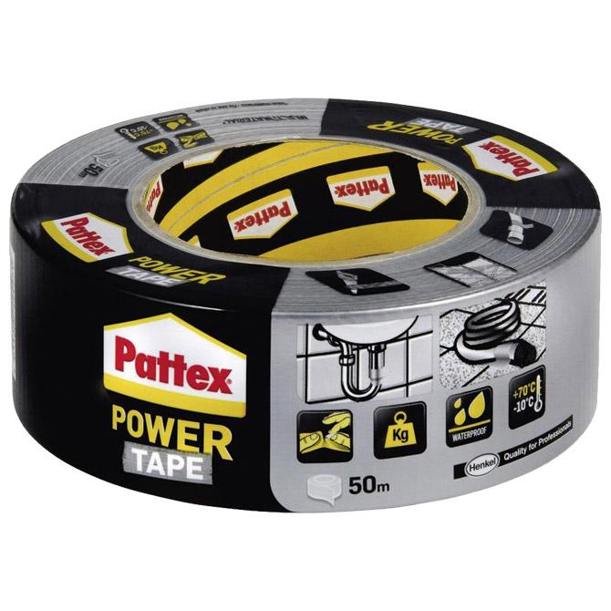 Traka ljepljiva 50mm/50m Power Tape Pattex Henkel srebrna