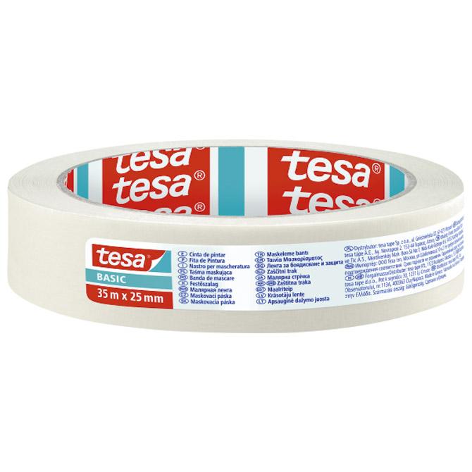 Traka ljepljiva krep 25mm/35m Basic Tesa 58591