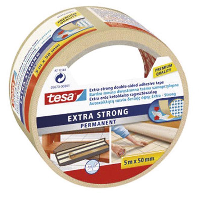 Traka ljepljiva obostrana 50mm/5m Extra Tesa 5670 -0