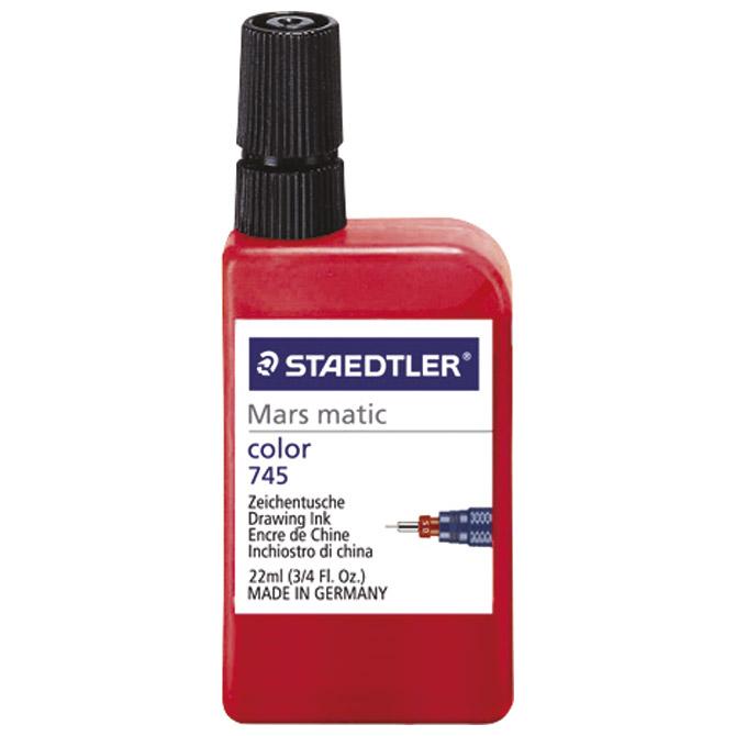 Tuš za crtanje 22ml Marsmatic Staedtler 745-2 crveni