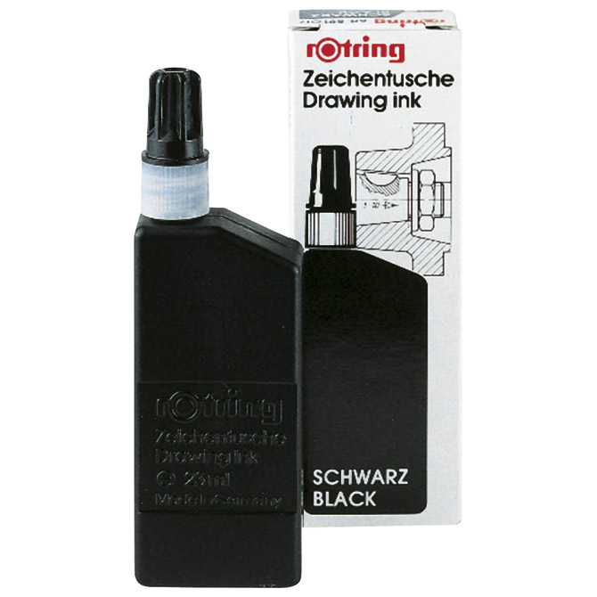 Tuš za crtanje 23ml Rotring 591017 crni