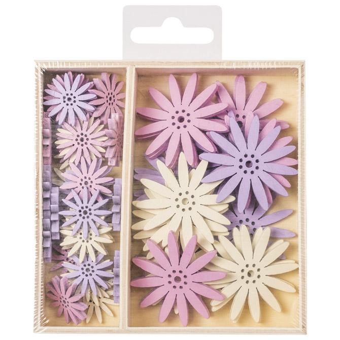 Ukras drveni pk54 Cvijet-Margareta Knorr Prandell 21-8001300 sortirano blister