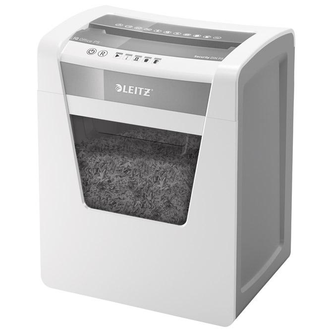 Uništavač dokumentacije  10 listova MicroCut IQ Leitz 80020000 bijelo/sivi