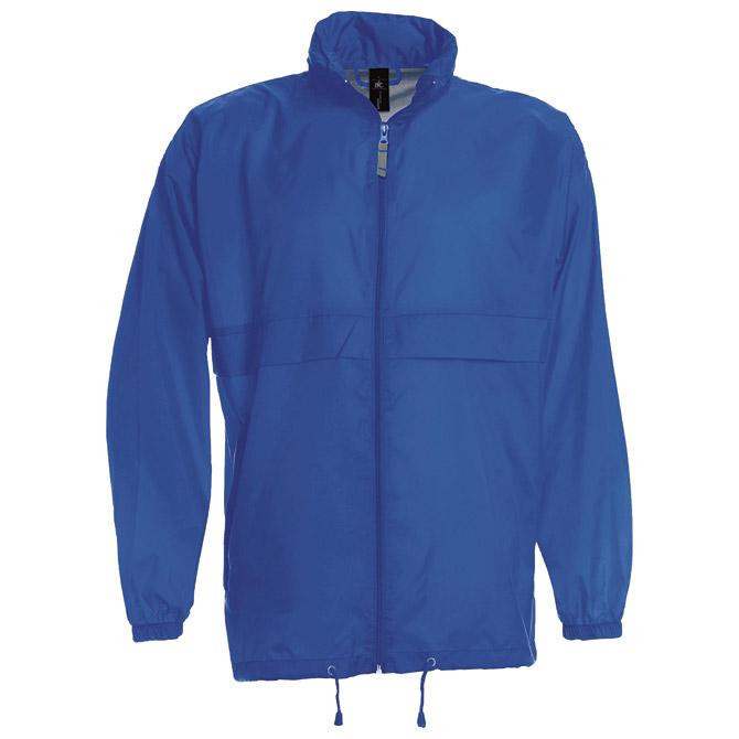 Vjetrovka s kapuljačom zip unisex B&C Sirocco zagrebačko plava XL
