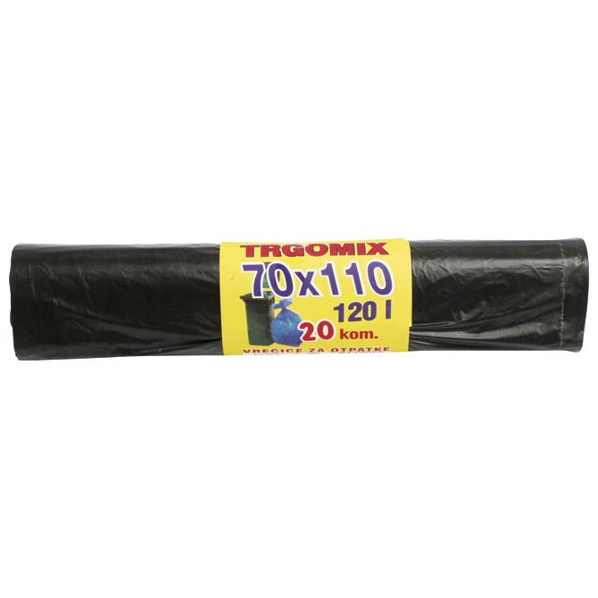 Vreća za smeće 120L 70x110cm HD pk20 Trgomix