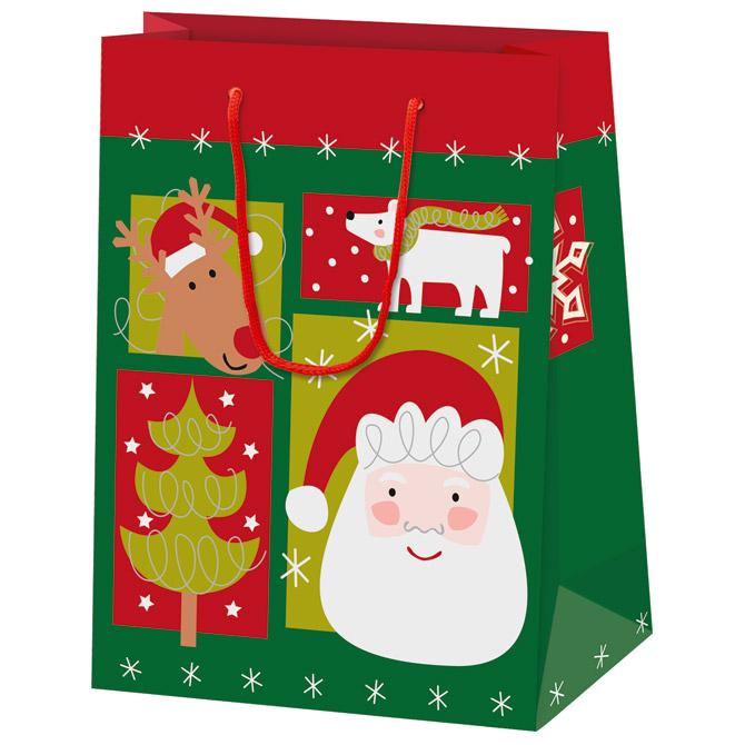 Vrećice ukrasne 16x22x8 Santa and friends Herlitz 40023878