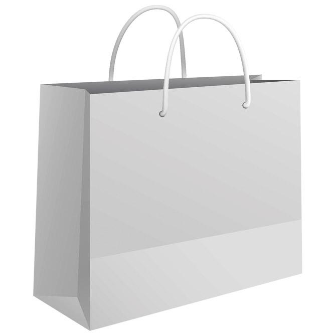 Vrećice ukrasne 24x16x7cm sjajna plastifikacija Fornax bijele
