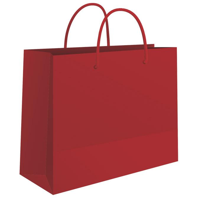 Vrećice ukrasne 24x16x7cm sjajna plastifikacija Fornax crvene