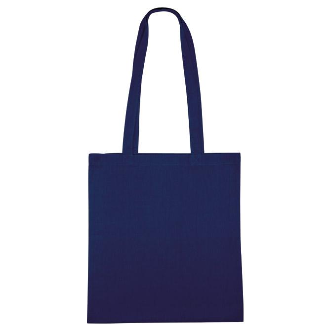 Vrećice za kupovinu platnena 38x42cm-duge ručke tamno plave