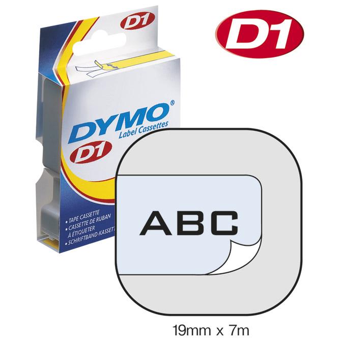 Vrpca D1 19mmx7m Dymo 45800 crno-prozirna