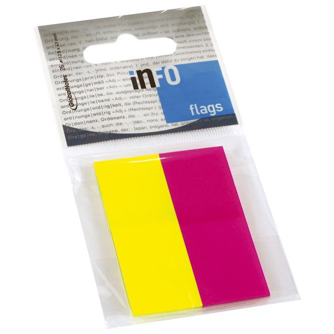 Zastavica 20x50mm 2bojex25L na označivaču Global Notes 2684-09 sortirano blister!!