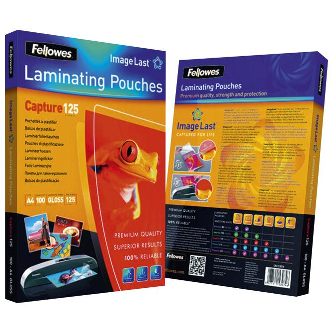 Folija za plastificiranje 125my A4 sjajna pk100 ImageLast Fellowes 5307407