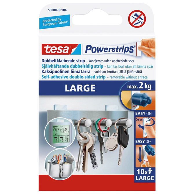 Ljepilo obostrano pk10 Large Powerstrips Tesa 58000-133 blister!!