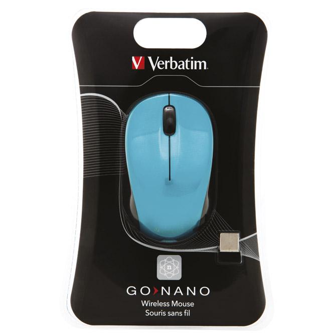 Miš usb 3tipke laserski bežični nano Verbatim 49044 plavi blister