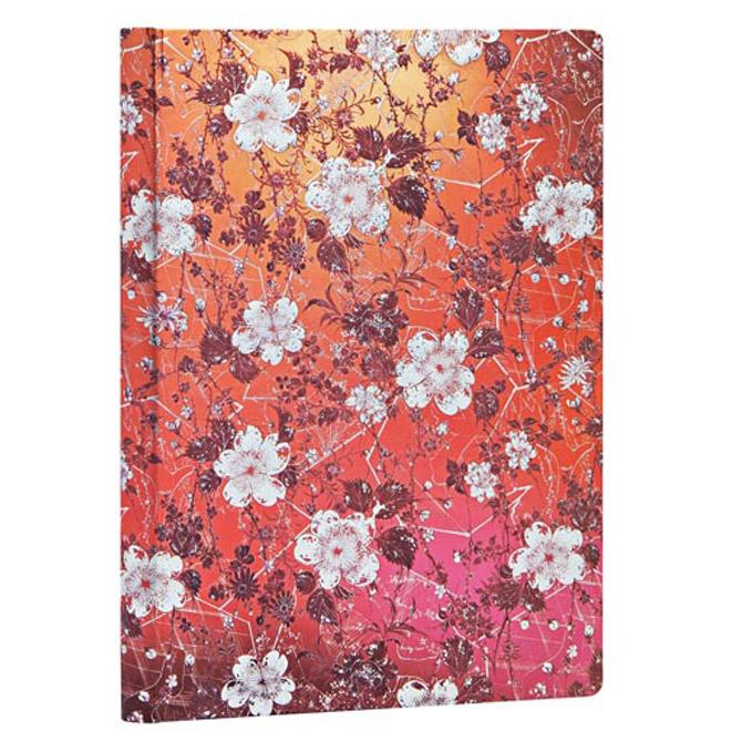 Notes 13x18cm-midi crte  72L s gumicom Sakura Paperblanks PB5429-0