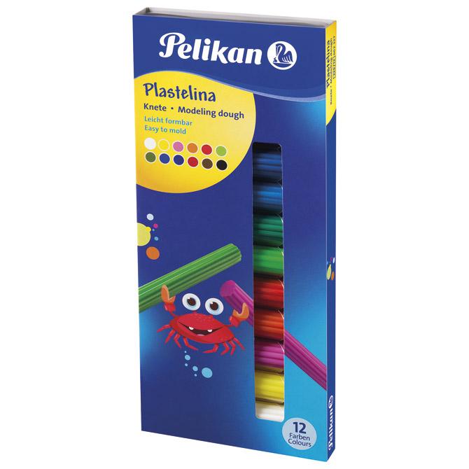 Plastelin 12boja (total 90g) karton Pelikan 602327