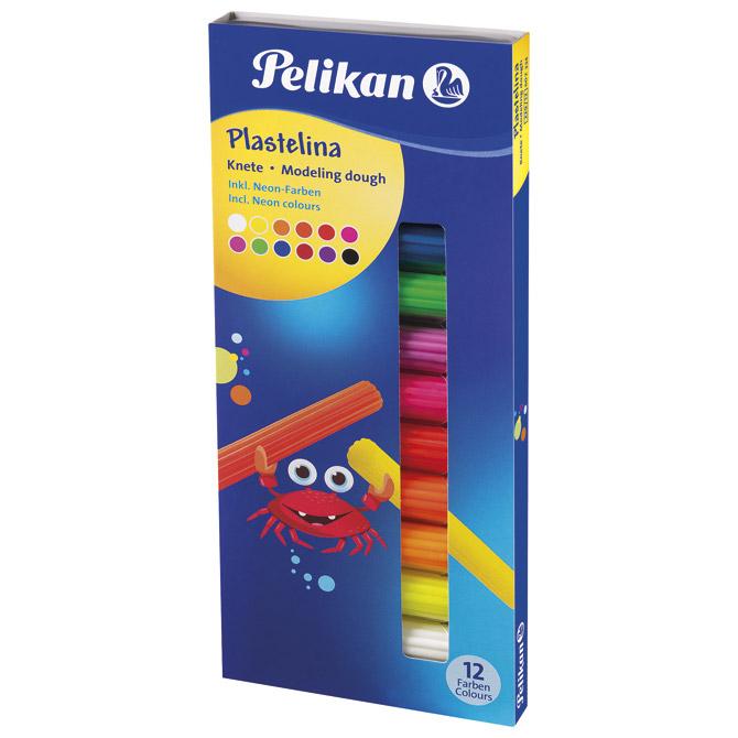 Plastelin 12boja (total 90g) karton Pelikan 602334 neon