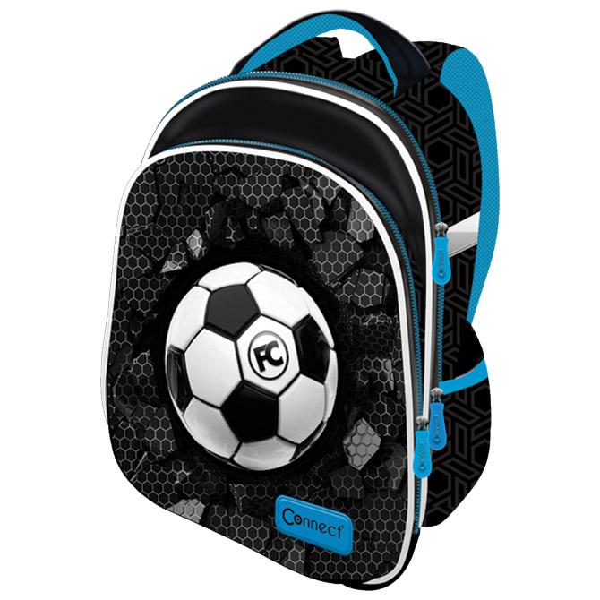 Ruksak školski anatomski lagan XT Football Connect crno-svijetlo plavi