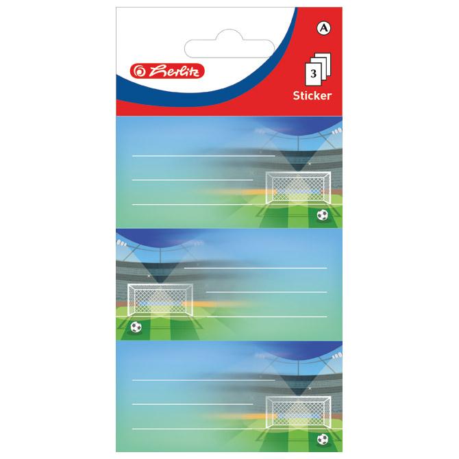 Etikete školske papir nogomet Herlitz 50034307 blister