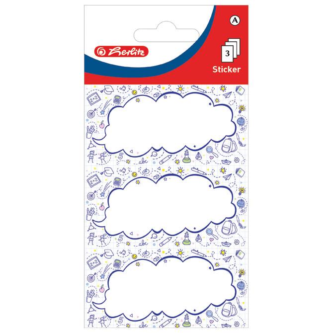 Etikete školske papir oblaci Herlitz 50034277 blister
