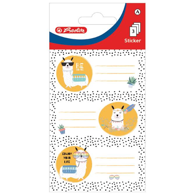 Etikete školske papir životinje Herlitz 50034284 blister