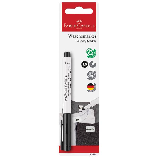 Marker za rublje 1mm Faber Castell 159596 crni blister