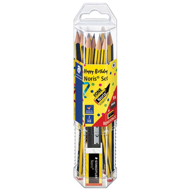 Olovka grafitna HB Noris anniversary pk12+gumica i šiljilo gratis Staedtler 61 120P2 blister