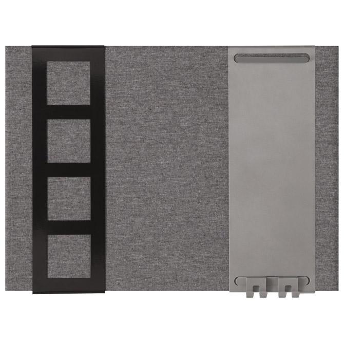 Ploča pluto/tkanina/magnet 58x43cm bez okvira Quartet 1903868 siva!!