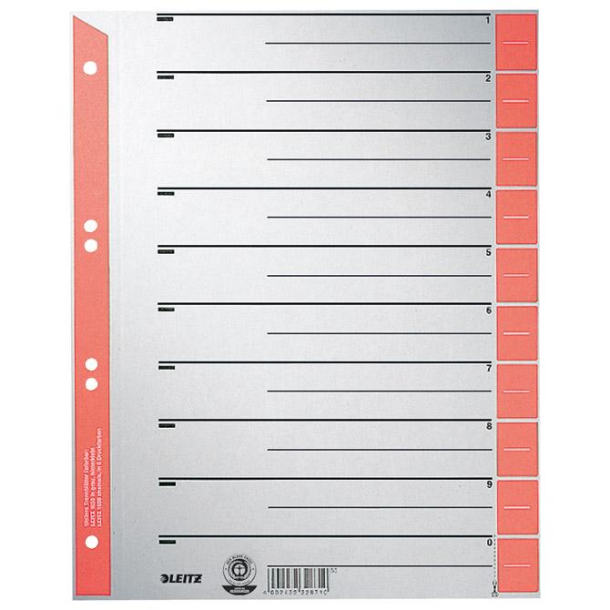 Pregrada kartonska A4 Leitz 16520325 crvena