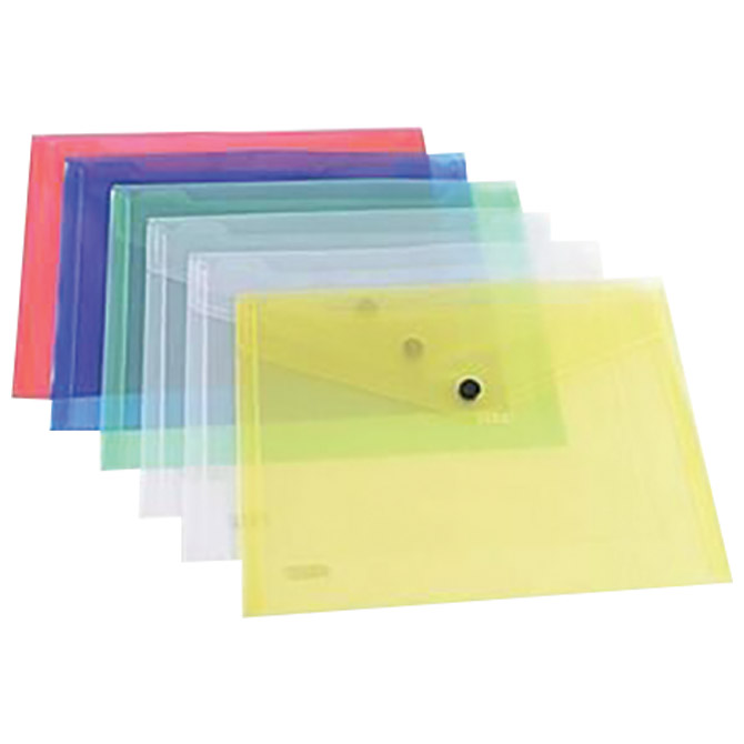 Kuverte s gumbom 240x180mm pp  pk6 Siam 2147 prozirne sortirano!!