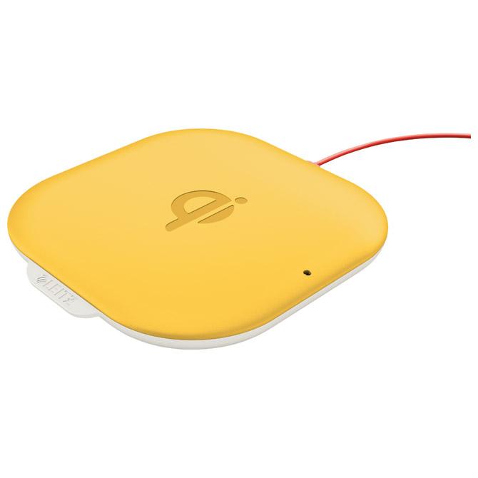 Punjač za mobilne uređaje bežični Cosy QI Leitz 64790019 žuti