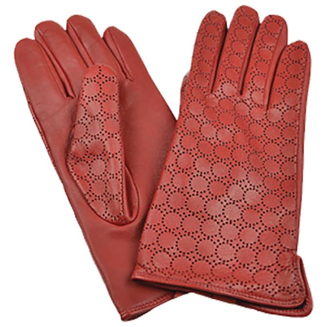 Rukavice kožne ženske Galko 71-0073-R03 crvena M