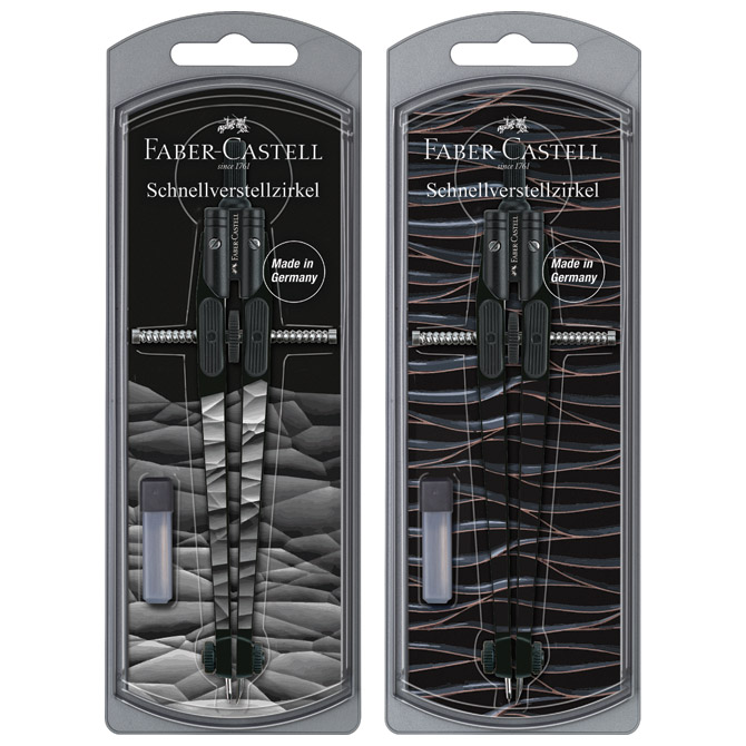 Šestar s preciznim podešavanjem+mine Boys Faber Castell 174451 sortirano blister