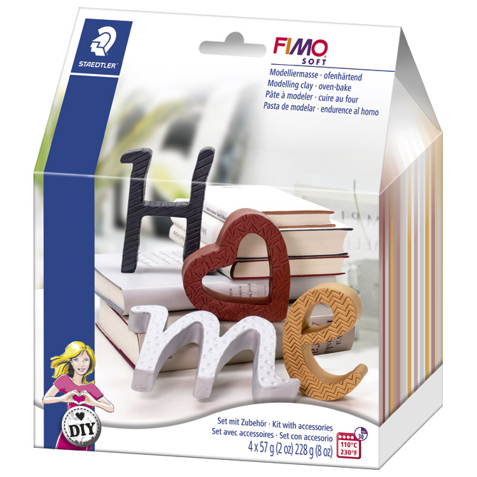 Set za modeliranje Fimo soft Slova Staedtler 8025 11!!