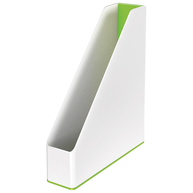 Stalak za spise okomit plastičan Wow Leitz 53621054 -NL bijelo-zeleni