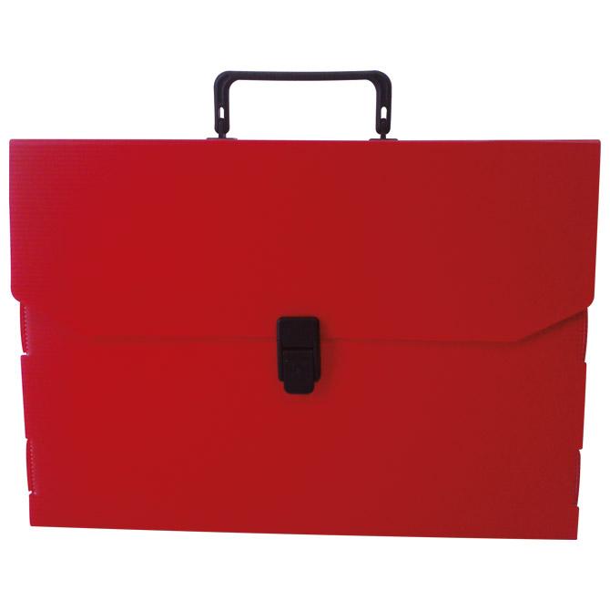 Torba-kofer pp-tvrdi  380x270x50mm Balmar (Dispaco) EURO5 crvena/crna ručka!!