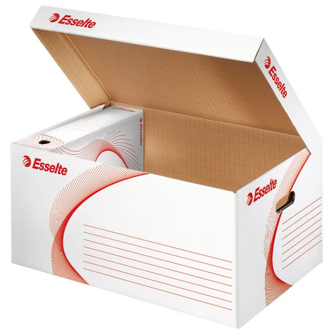 Kutija arhivska-kontejner za arhivske kutije s poklopcem Standard Esselte 128900 bijela