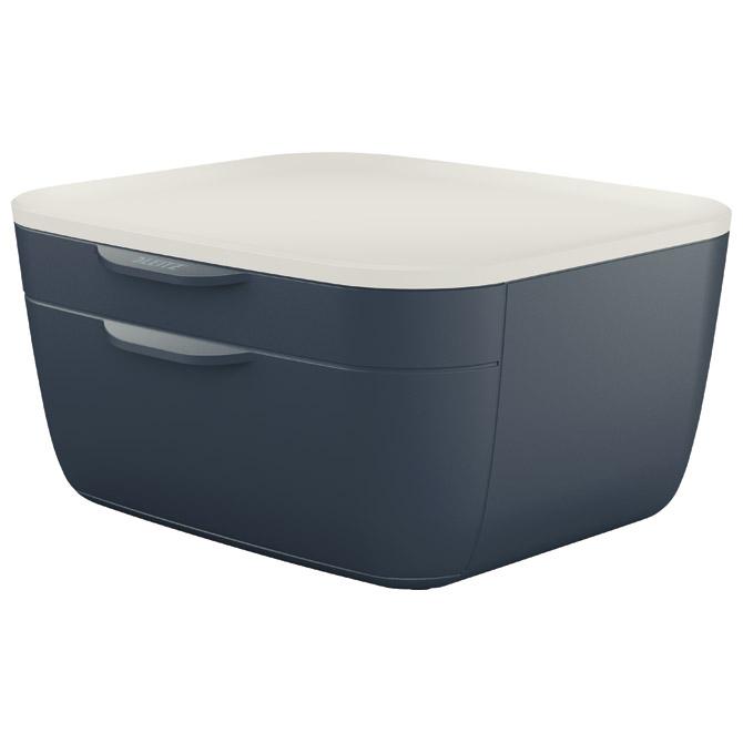 Kutija s  2 ladice Cosy Leitz 53570089 tamno siva/bijela