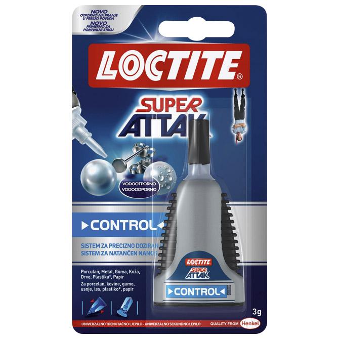 Ljepilo trenutačno 3g Loctite Super Attak Control Henkel 304069 blister