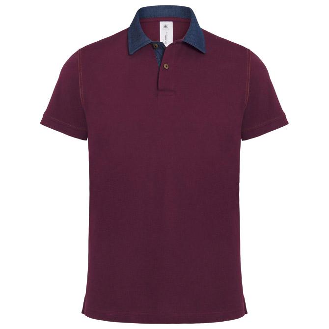 Majica kratki rukavi B&C DNM Forward/men bordo M!!