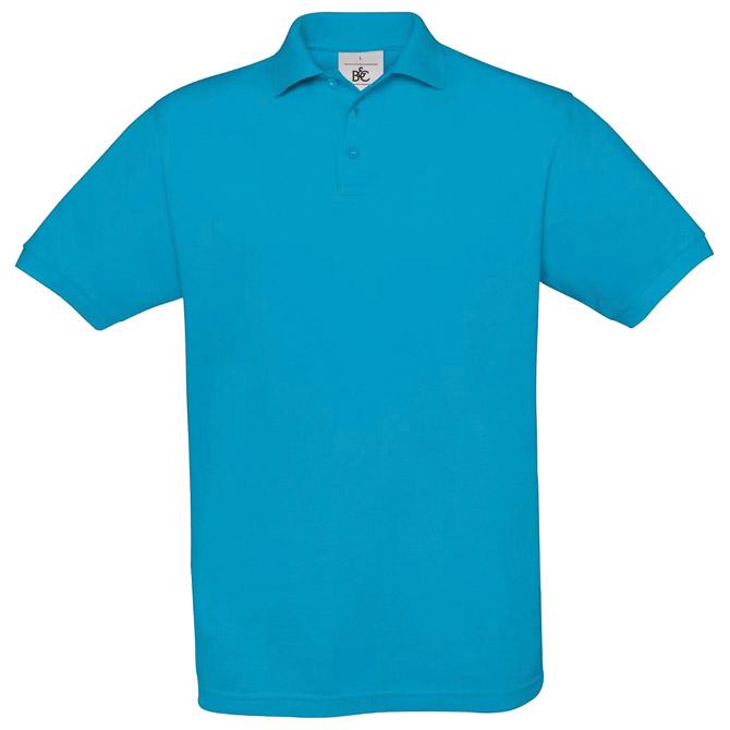 Majica kratki rukavi B&C Safran Polo 180g atol plava M!!