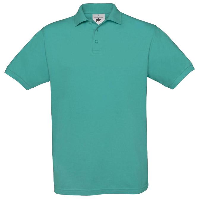 Majica kratki rukavi B&C Safran Polo 180g tirkizna L!!