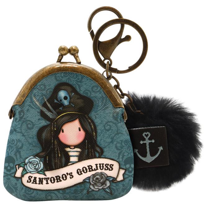 Privjesak za ključeve torbica+pom pom Pirates Black Pearl Gorjuss 919GJ06 blister