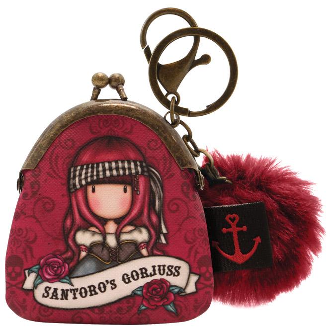 Privjesak za ključeve torbica+pom pom Pirates Mary Rose Gorjuss 919GJ08 blister
