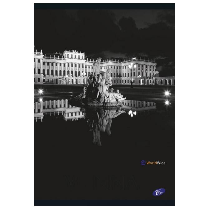 Teka meki uvez A5 crte 40+2L Cities by night Elisa sortirani motivi
